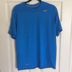 NIKE shirt dri-fit blue L